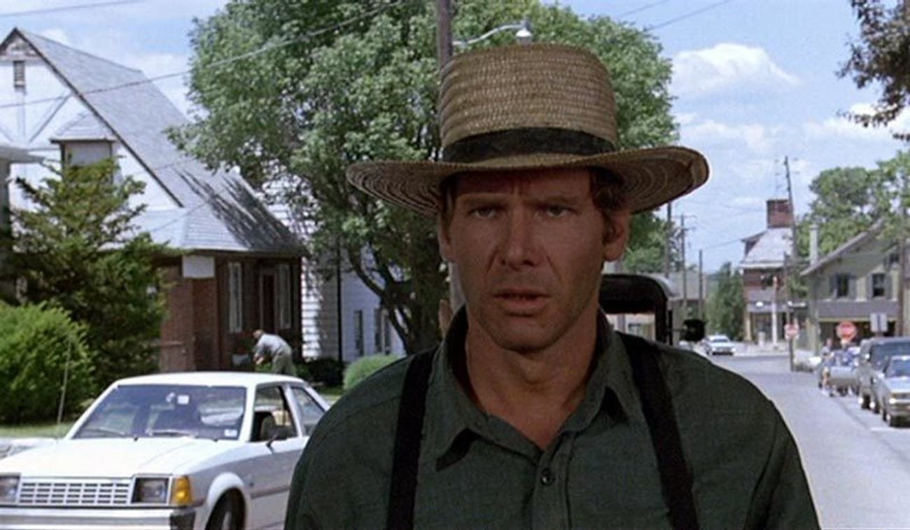 Harrison Ford as Detective John Book pretending to be Amish in 'Witness' (1985)