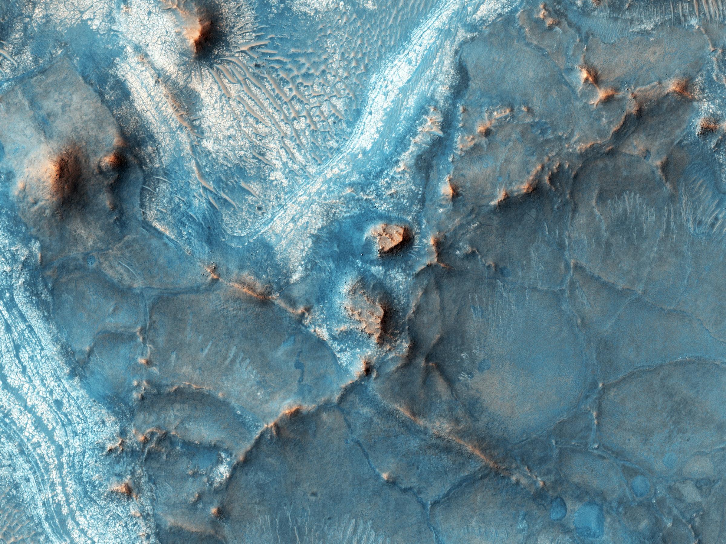 The Nili Fossae region on Mars.