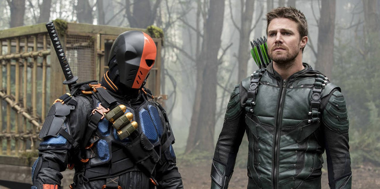 arrow deathstroke slade wilson oliver queen