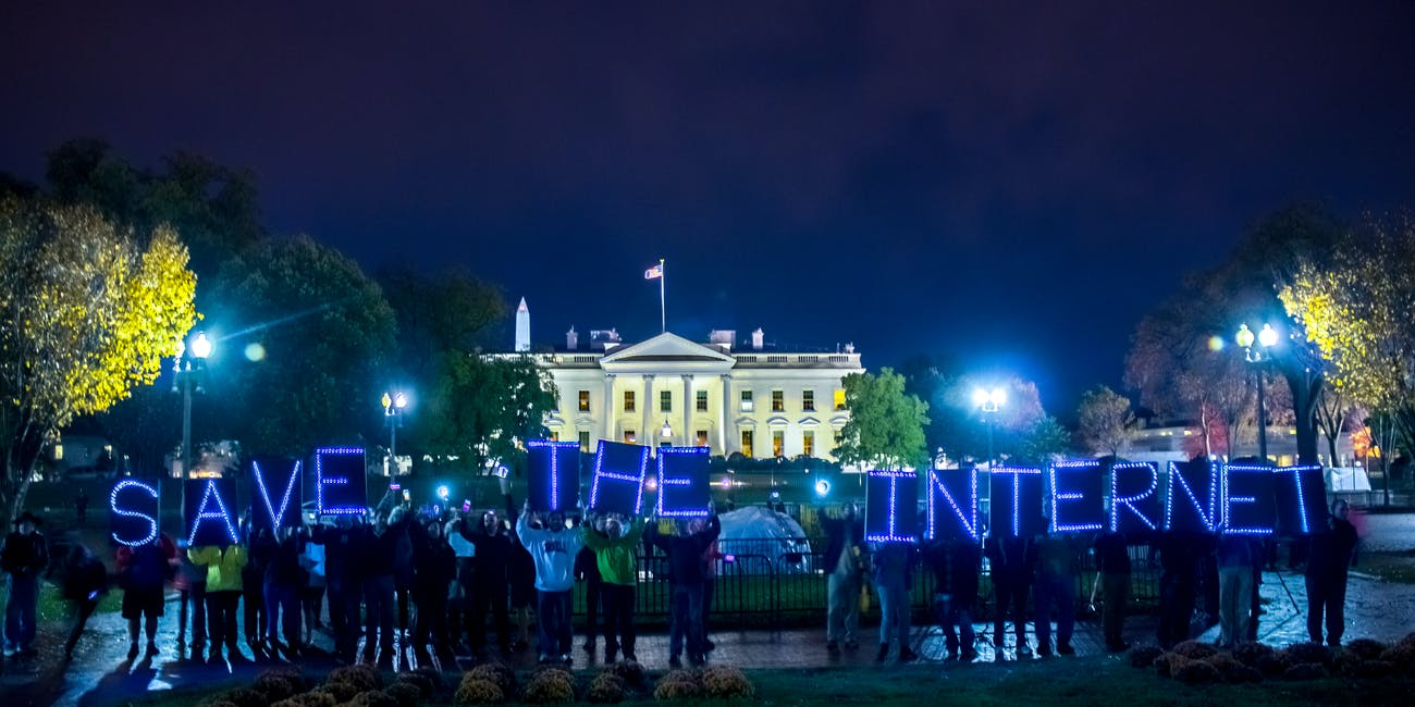 Protest at the White House for Net Neutrality