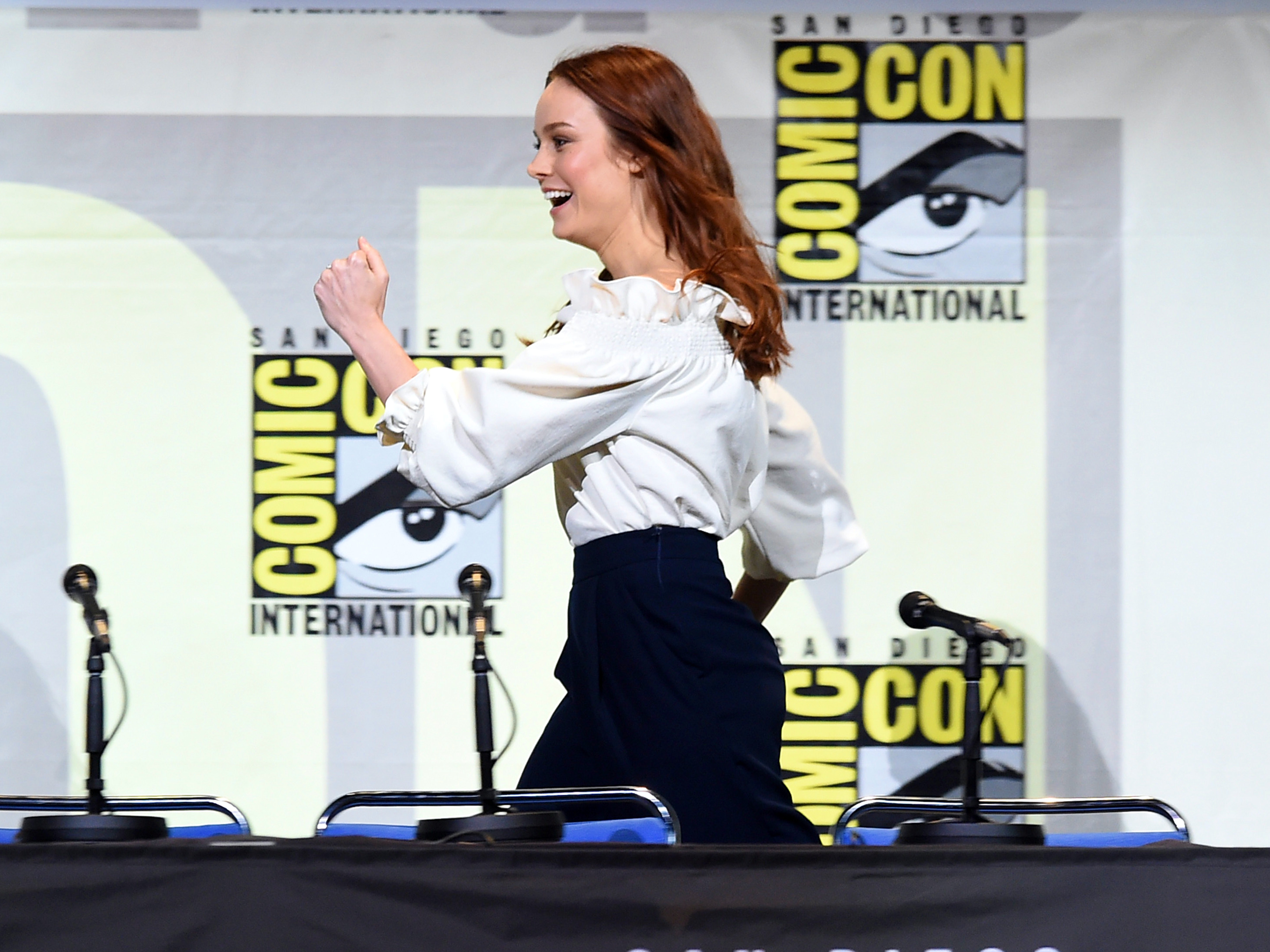 Watch Comic Con Go Nuts For Brie Larson, 'Captain Marvel'