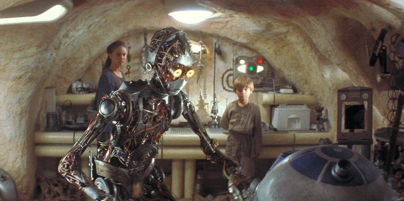C-3PO with his creator in 'The Phantom Menace.'
