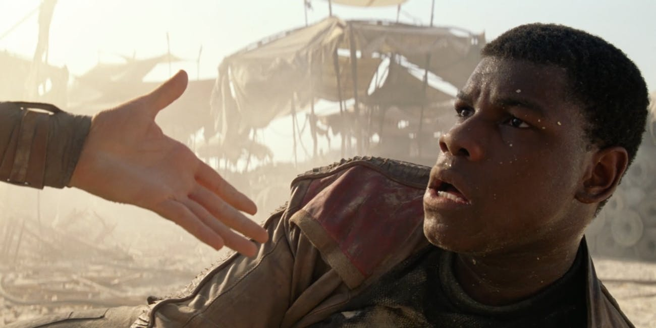 In 'The Last Jedi,' Finn is the hero he claimed to be when he first met Rey on Jakku.
