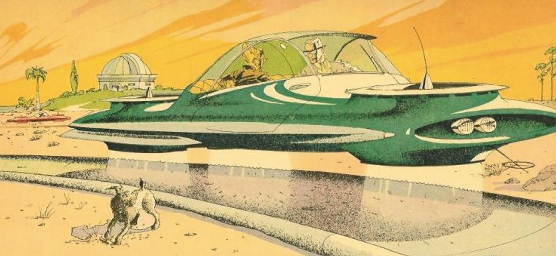 An illustration for the 1964 GM World's Fair which Asimov commented on in non-fiction