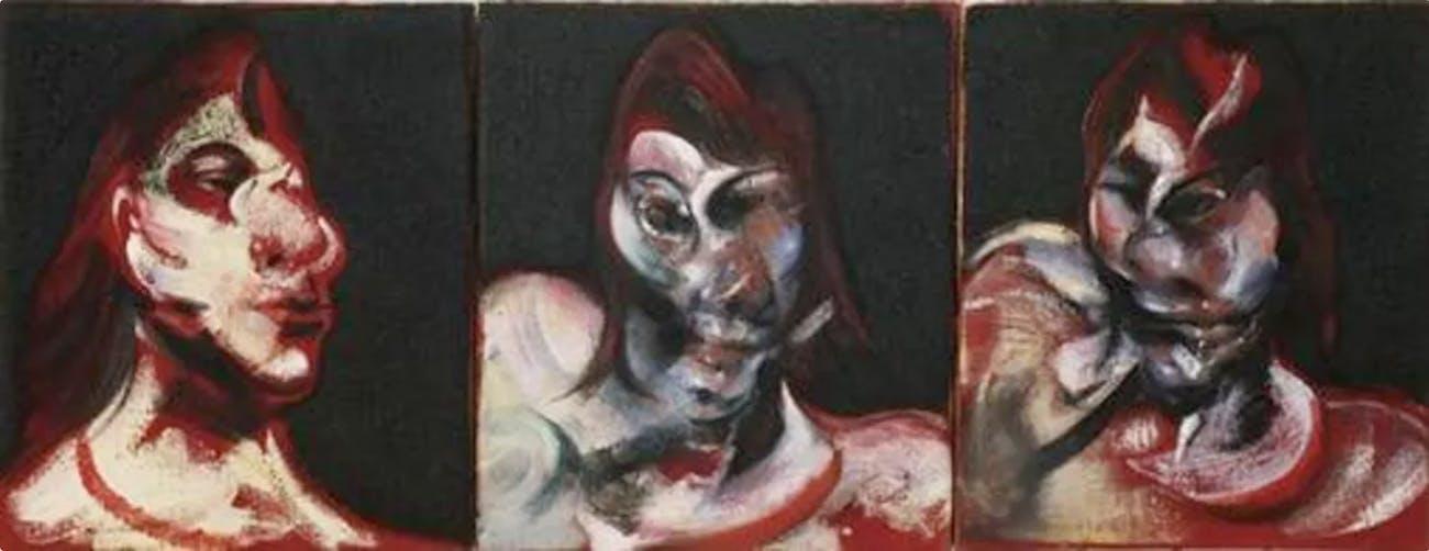 'Three Studies for the Portrait of Henrietta Moraes,' Francis Bacon, 1963