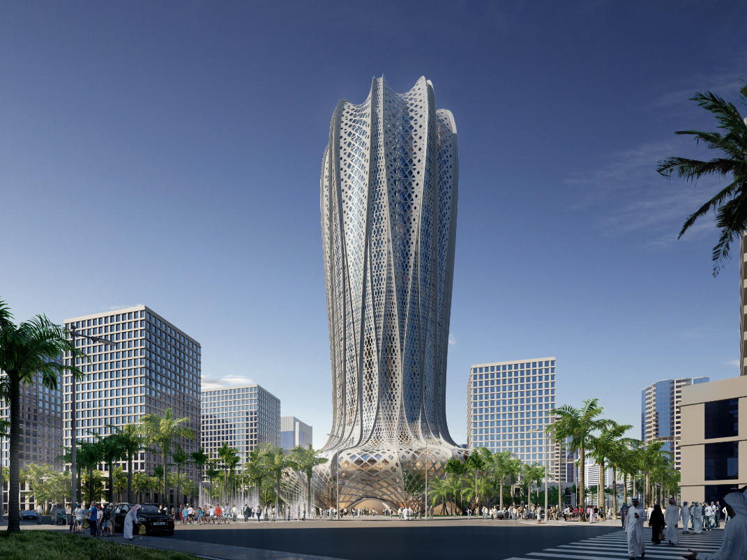The design of the Lusail building is inspired by the desert hyacinth.