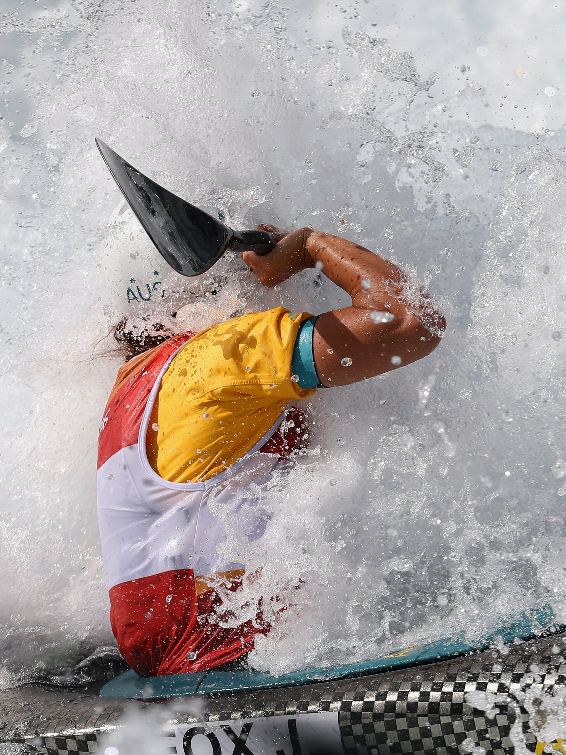 RIO DE JANEIRO, BRAZIL - AUGUST 11:  Jessica Fox of Australia competes during the Women's Kayak (K1) Semi-final on Day 6 of the Rio 2016 Olympics at Whitewater Stadium on August 11, 2016 in Rio de Janeiro, Brazil.  (Photo by Rob Carr/Getty Images)
