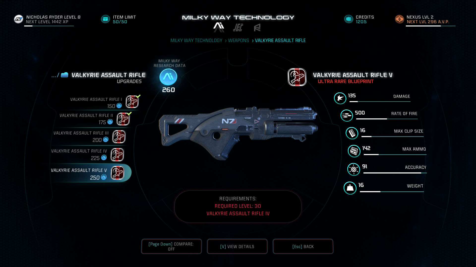 mass effect andromeda weapon