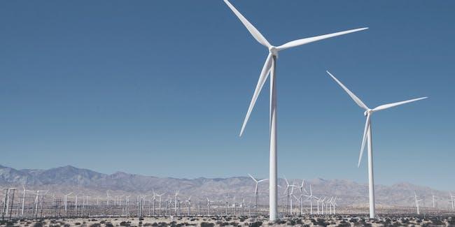 Soluna wind farm in action.