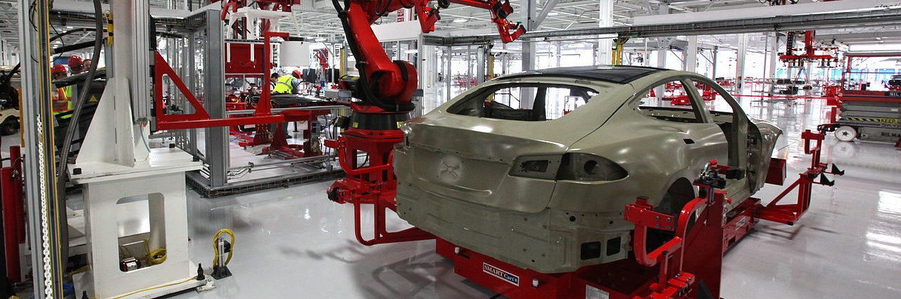 The Tesla Factory in Fremont, Calfornia.