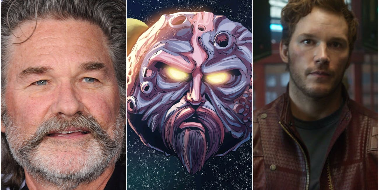Kurt Russell and Chris Pratt for Guardians of the Galaxy 2
