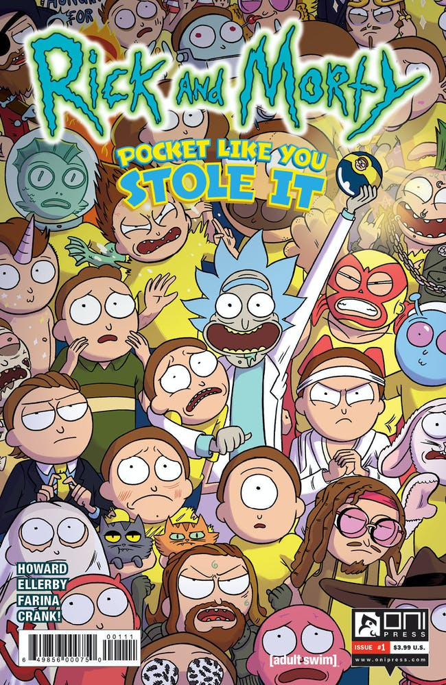The very first issue shows a lot of Mortys that fans will appreciate.