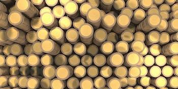 Piles of Bitcoins