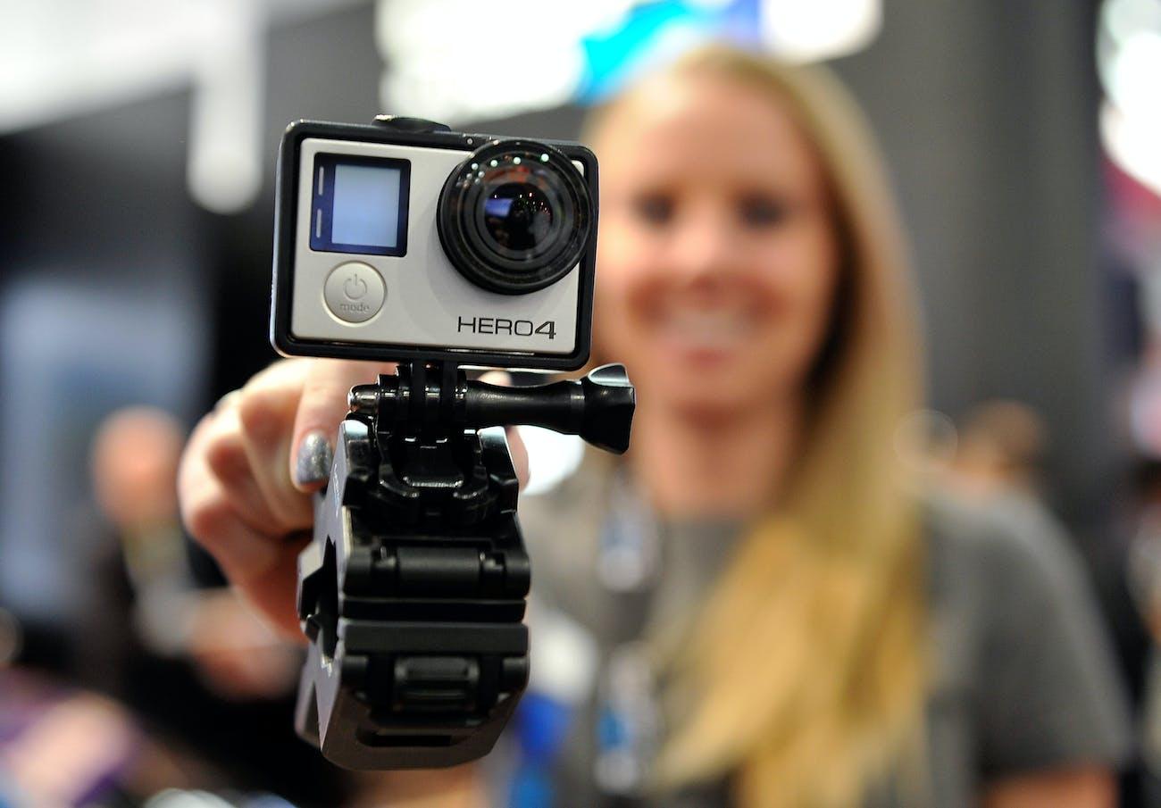 A GoPro Hero 4 camera.