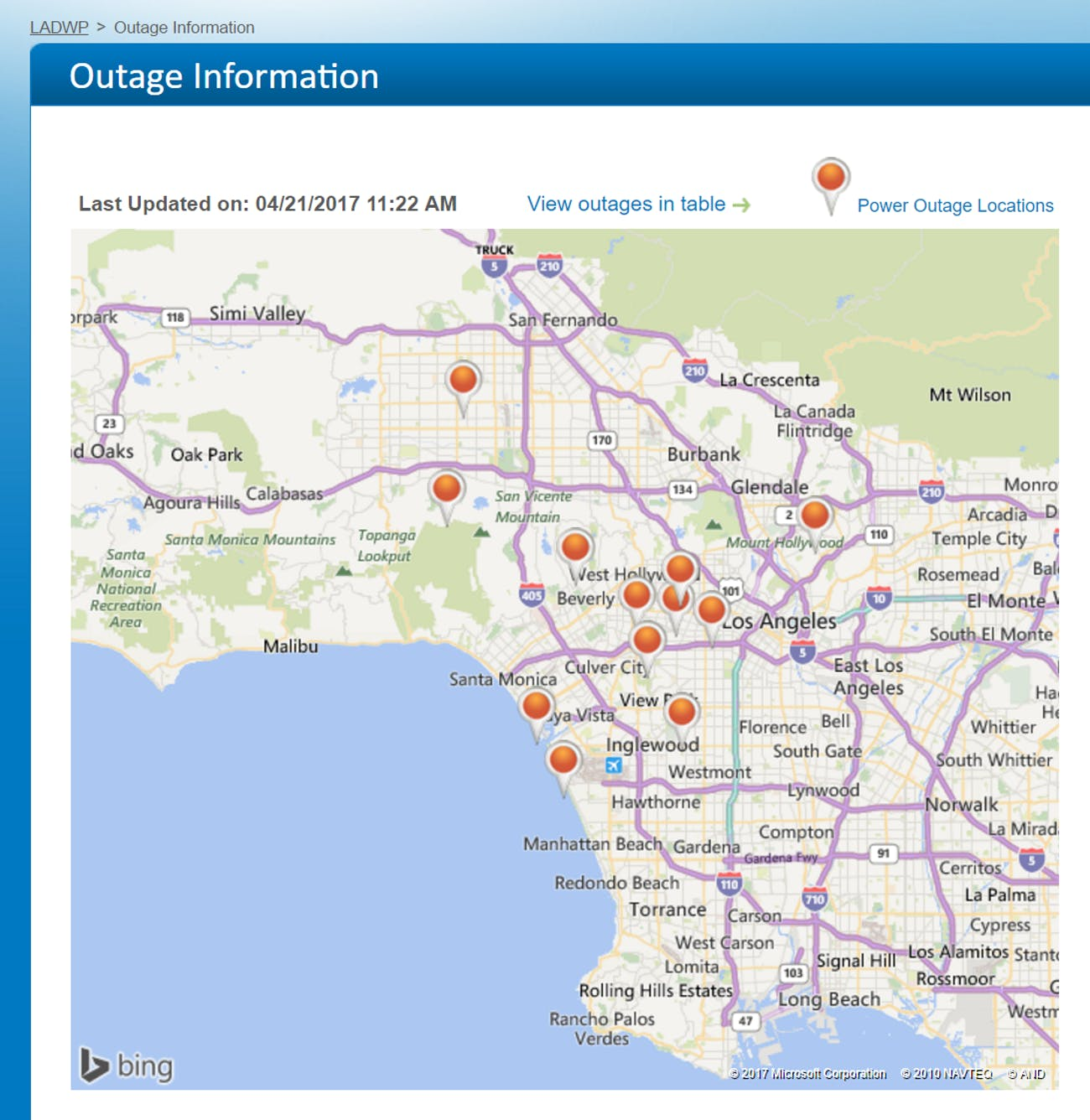 Power Outages Coincide In La New York And San Francisco Inverse