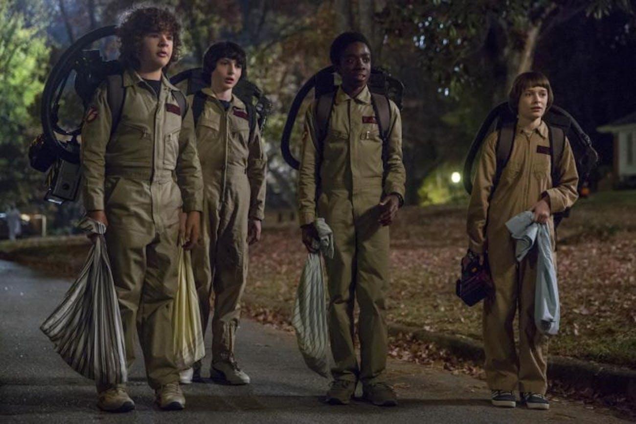 Stranger Things Season 2 Netflix Mike, Will, Lucas, and Dustin