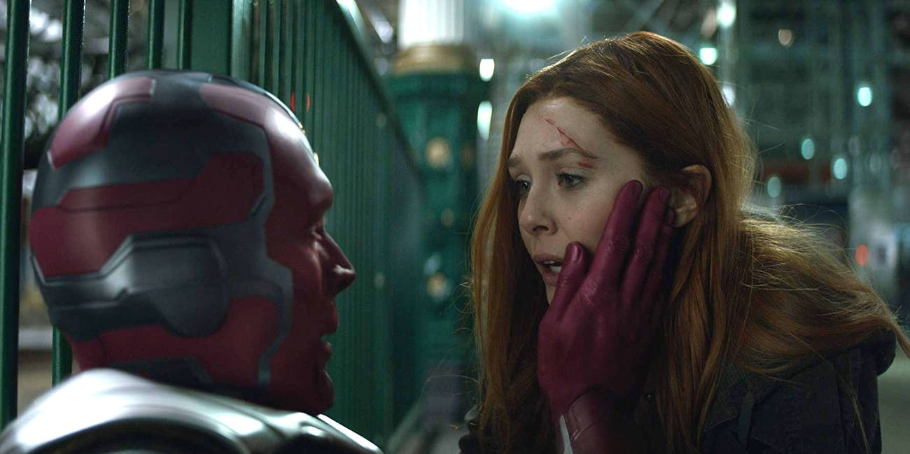 Wanda checks on Vision in 'Avengers: Infinity War'