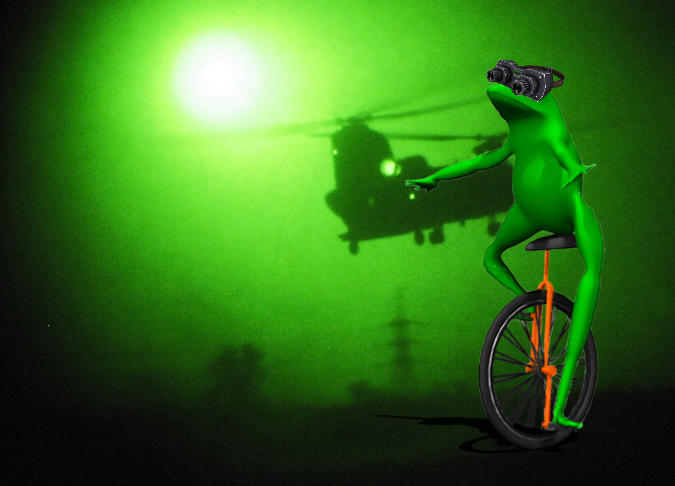 Night vision toads are Dat Boi-approved.
