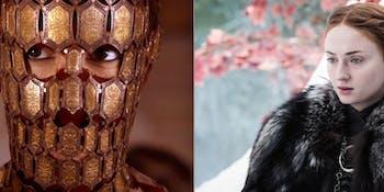 Quaithe and Sansa Stark in 'Game of Thrones'