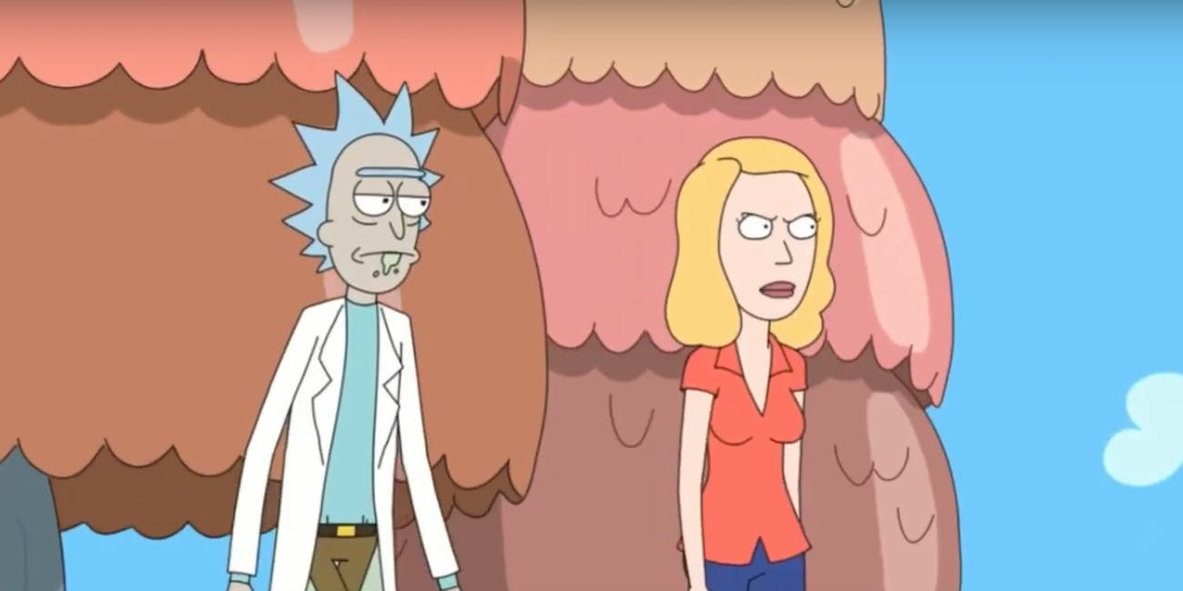 Rick and Beth go to Froopyland, a world he made for her when she was still a little girl.