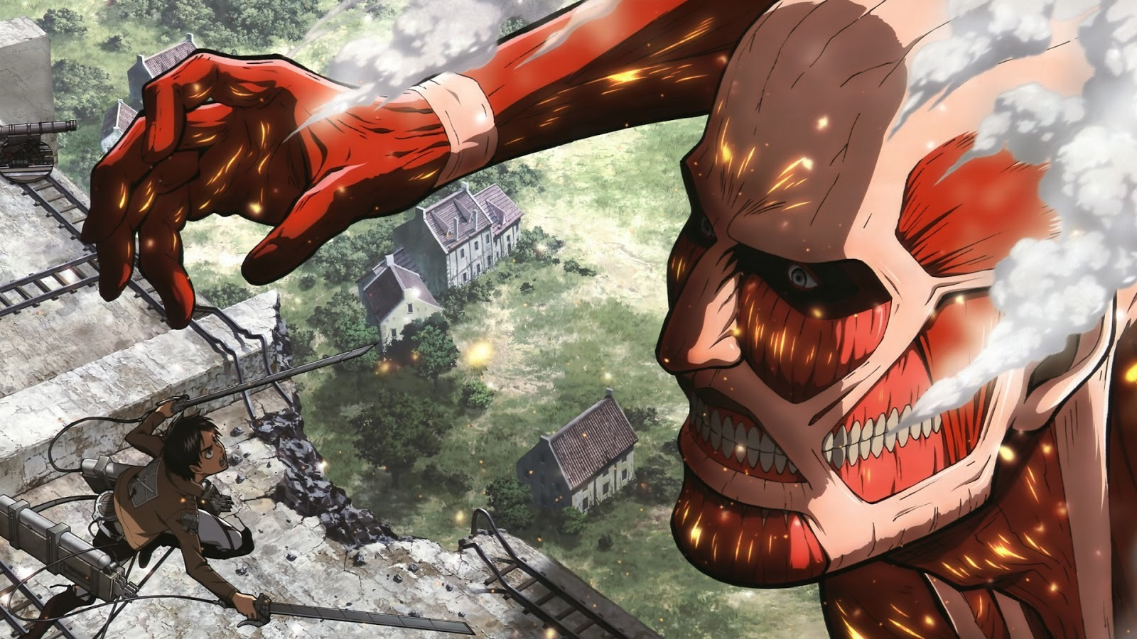 Attack On Titan Poster Shingeki Watercolor Wall Art Otaku Anime Poster Gift R18