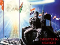 """The cover of the single for """"2 Minutes to Midnight"""" by Iron Maiden"""