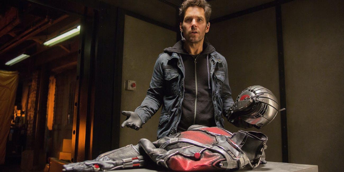 Paul Rudd plays Scott Lang, aka Ant-Man.