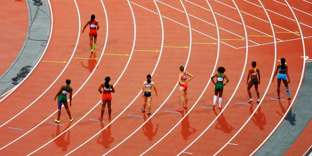 olympic athletes, track