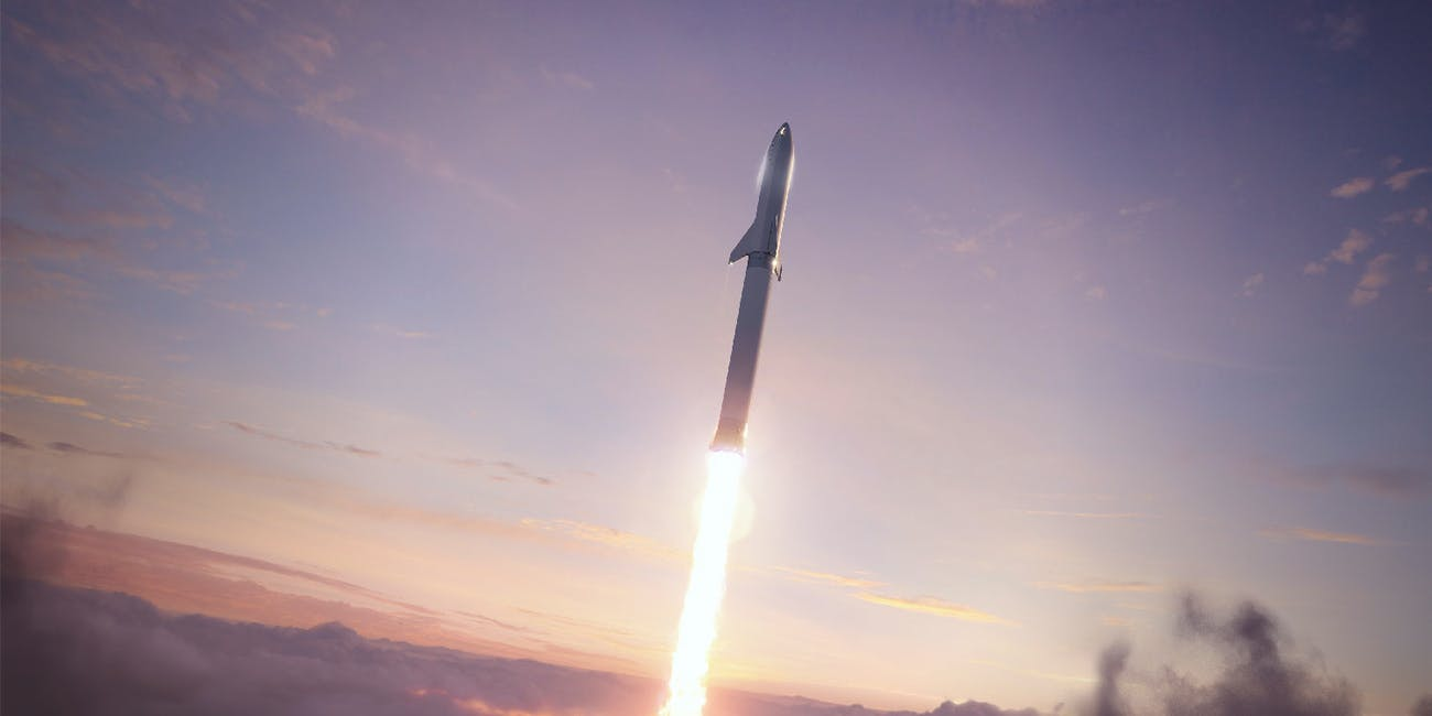 BFR bursting out of the clouds