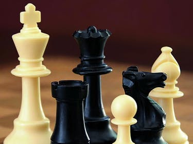 Chess board pieces rook pawn knight king queen bishop