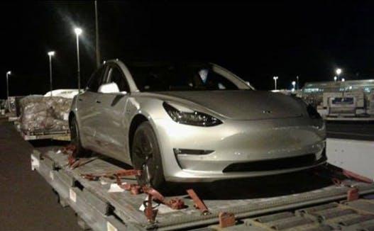 Tesla Model 3 spotted in NZ.
