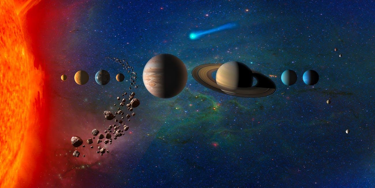 Solar System (artist's impression)