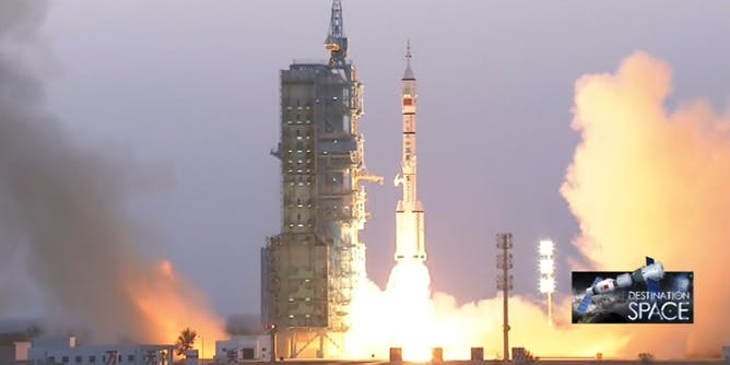 China successfully launched two taikonauts on a 30-day mission.