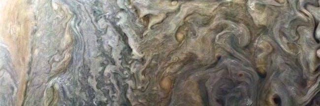Stormy Spot on Jupiter NASA Juno