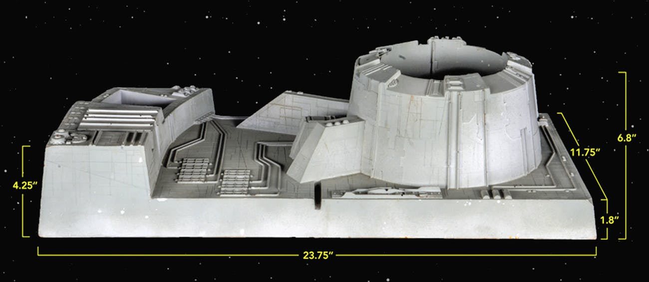 Dimensions for Death Star set piece