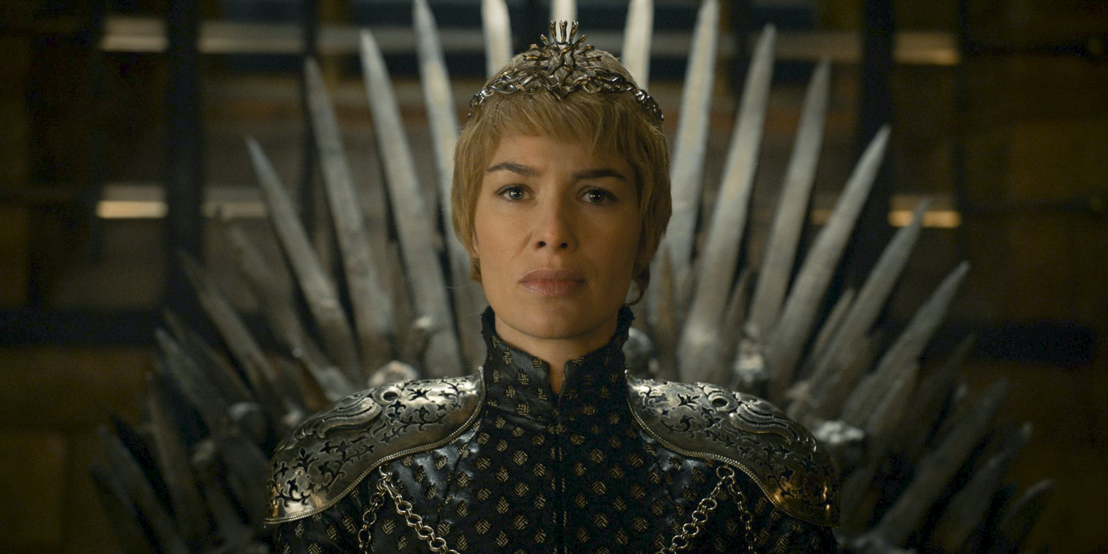 Queen Cersei sits on her perilous throne in 'Game of Thrones'