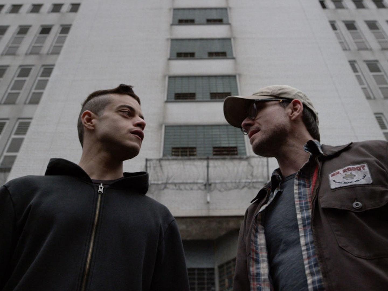 Rami Malek and Christian Slater in 'Mr. Robot' Season 2