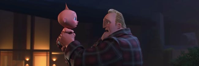 Jack-Jack and Bob in 'Incredibles 2'