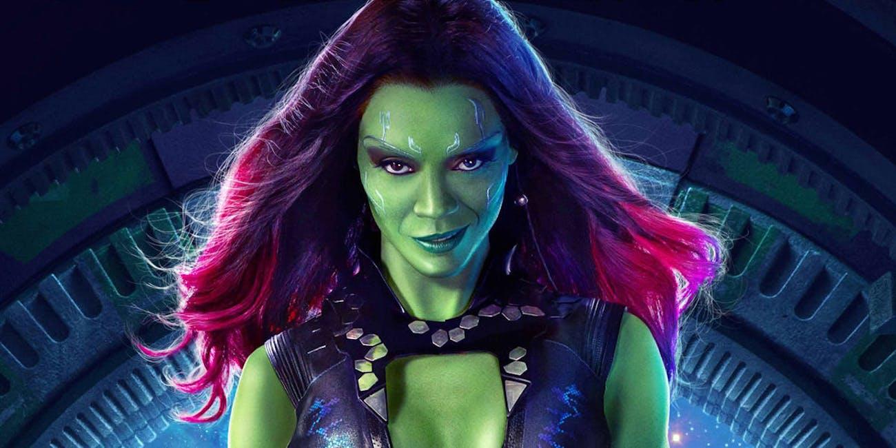Zoe Saldana as Gamora in 'Guardians of the Galaxy Vol 2'