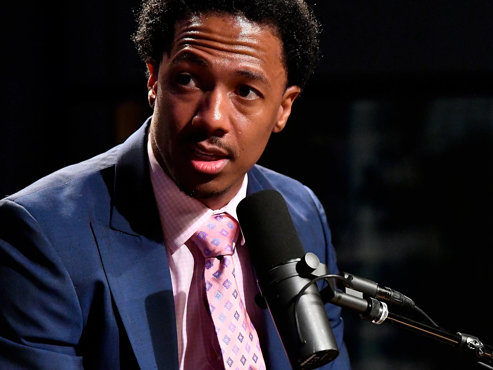 """Nick Cannon appears on the """"The Heat"""", hosted by Dion Summers."""