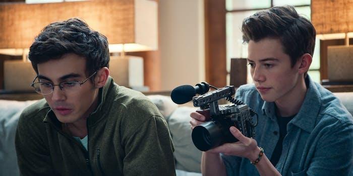 Tyler Alvarez and Griffin Gluck in 'American Vandal' Season 2.