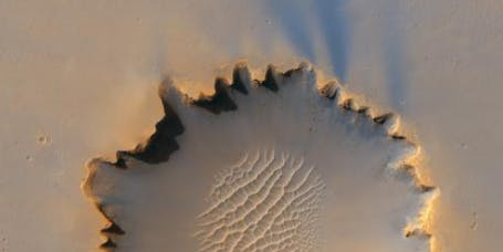"The ""Victoria Crater"" on the Meridiani Planum."