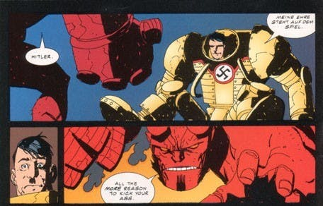 Hellboy vs. Mecha Hitler