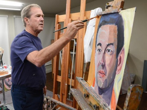Bush paints a veteran because why not.