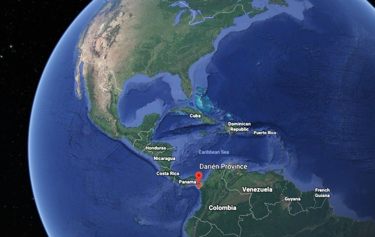 darien gap map coyotes
