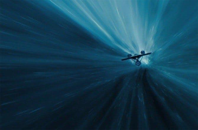USS Enterprise at warp speed in Into The Darkness.