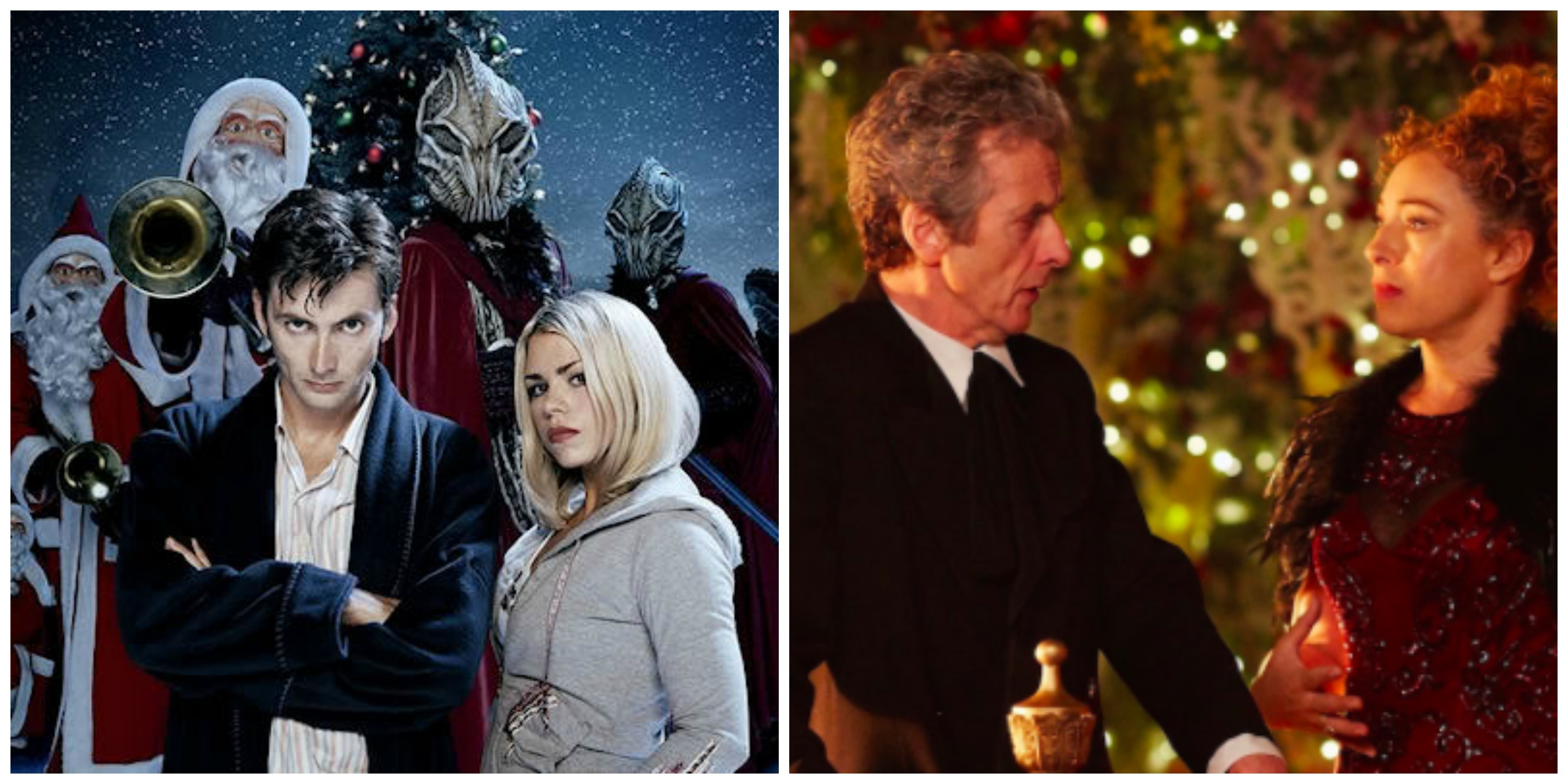 "LEFT: ""The Christmas Invasion"" RIGHT: ""The Husbands of River Song"""