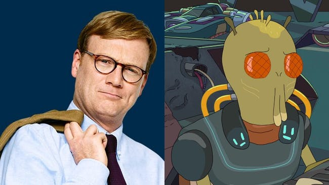 Andy Daly is Krombopulos Michael, delightful assassin for hire.