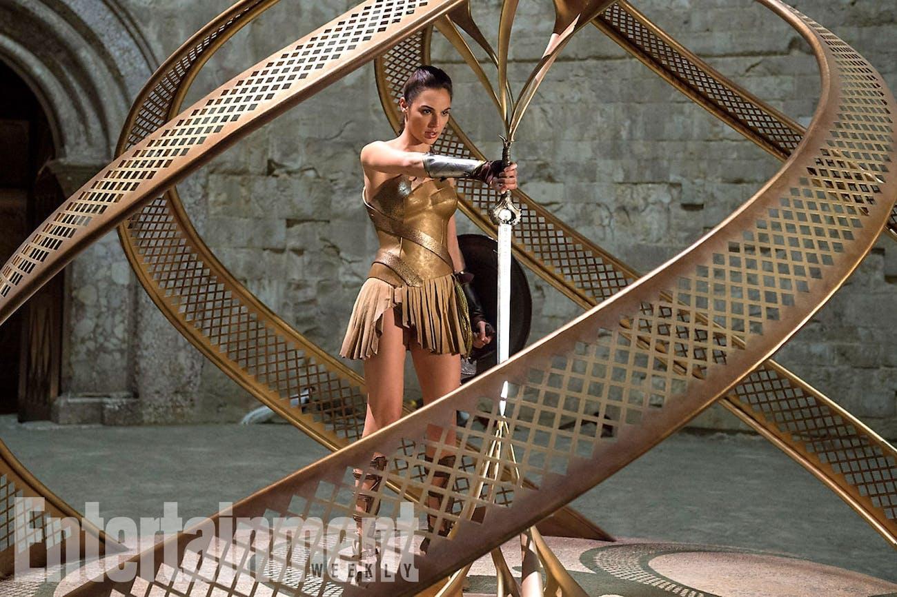 Gal Gadot as Wonder Woman steals the 'God Killer' in DC's Wonder Woman