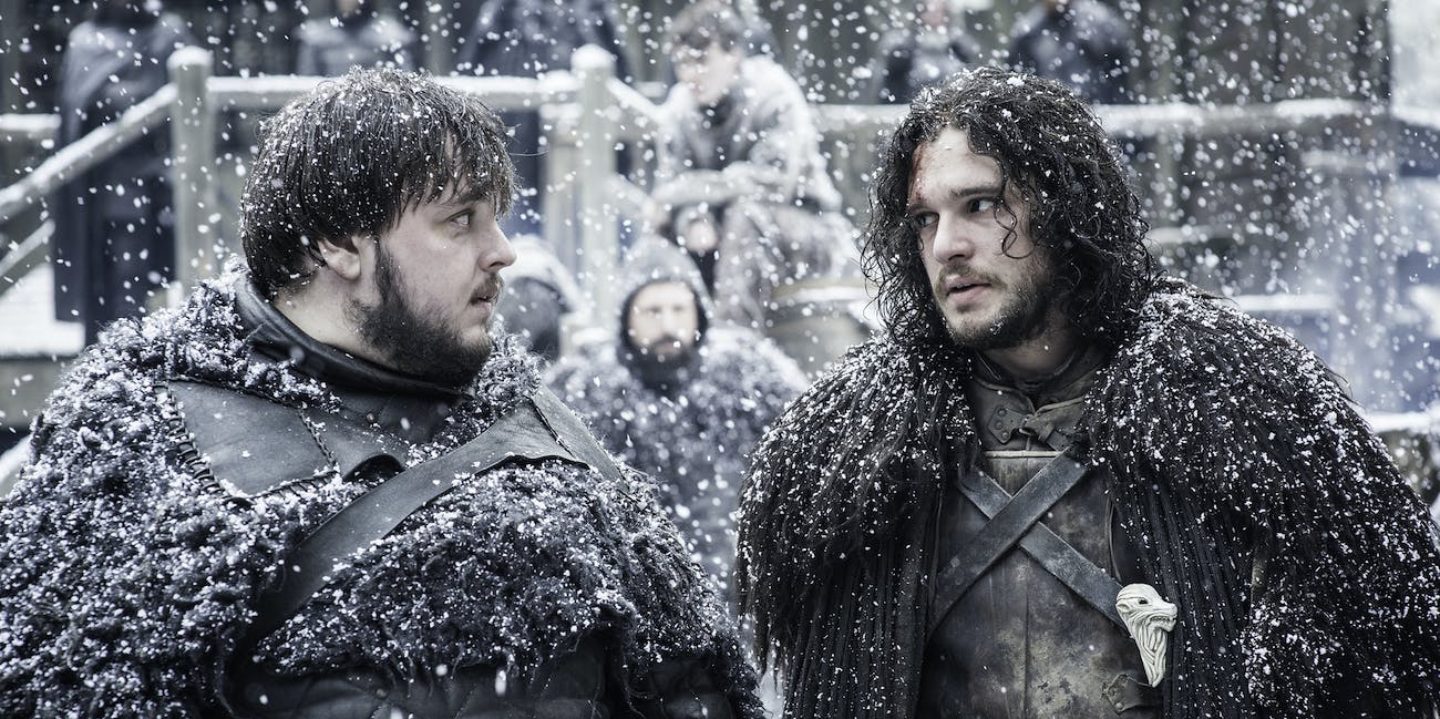 Sam Tarly and Jon Snow
